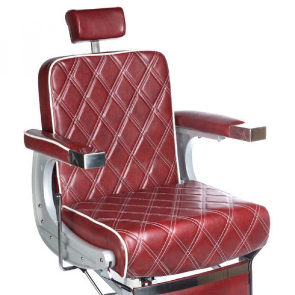 Fotel Barberski LUMBER BH-31825 Burgund LUX #2