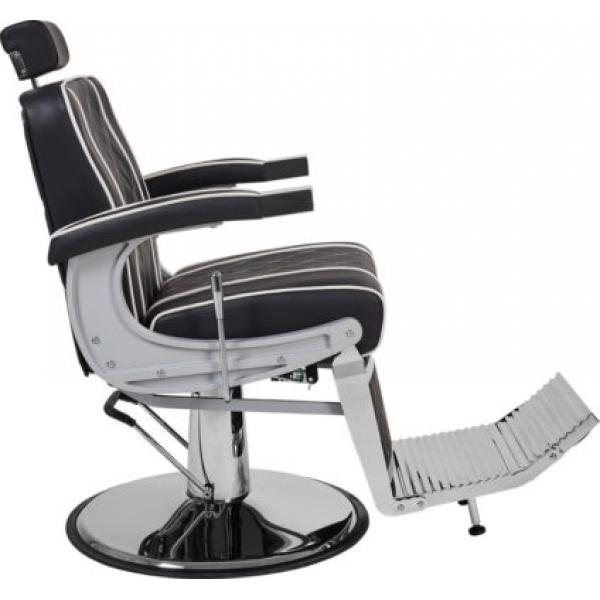 Fotel Fryzjerski Barber Borg Męski Brązowy W 48h #4