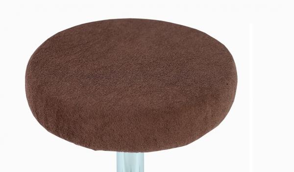 Pokrowiec na taboret frotte czekoladowy 30-40cm #1