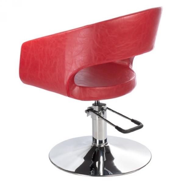 Fotel Fryzjerski Paolo BH-8821 Czerwony #2