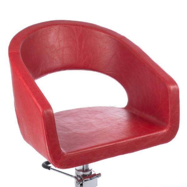 Fotel Fryzjerski Paolo BH-8821 Czerwony #4