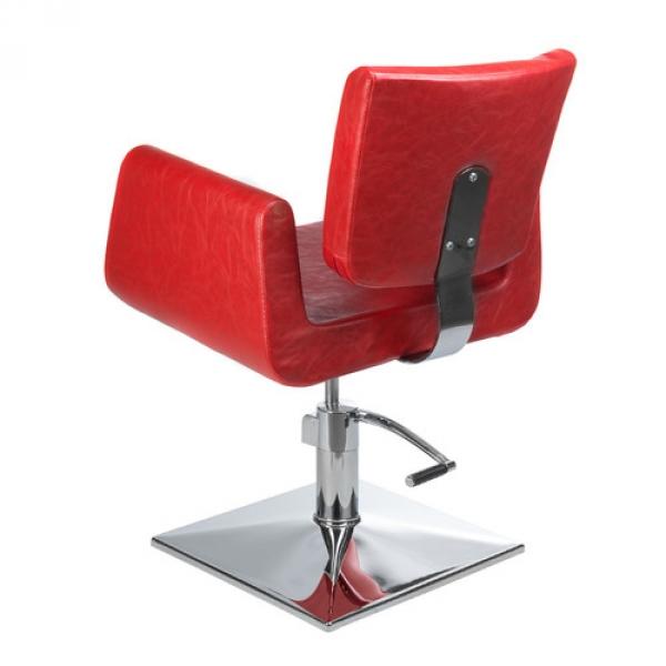 Fotel Fryzjerski Vito BH-8802 Czerwony #3