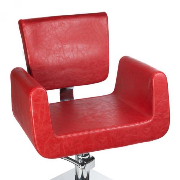 Fotel Fryzjerski Vito BH-8802 Czerwony #5
