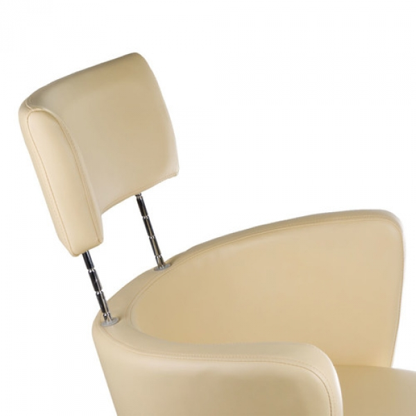 Fotel Fryzjerski LUIGI BR-3927 Kremowy #4