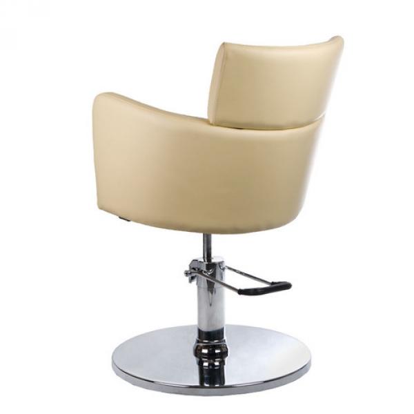 Fotel Fryzjerski LUIGI BR-3927 Kremowy #5