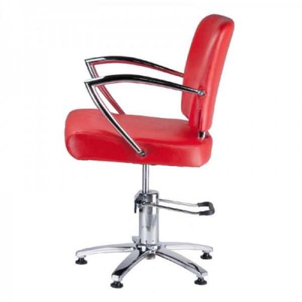 Fotel Fryzjerski LIVIO Czerwony BH-6369 #3