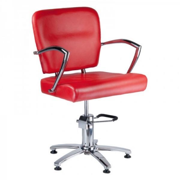 Fotel Fryzjerski LIVIO Czerwony BH-6369 #5