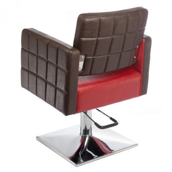 Fotel Fryzjerski Ernesto Czerwono-Brązowy BM-6302 #2