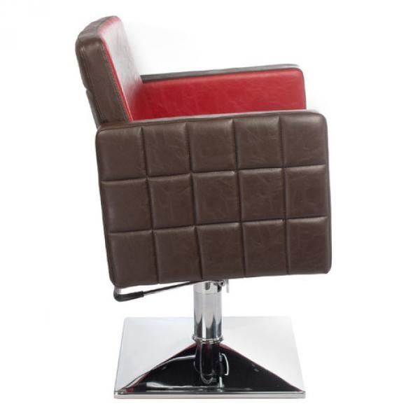 Fotel Fryzjerski Ernesto Czerwono-Brązowy BM-6302 #4