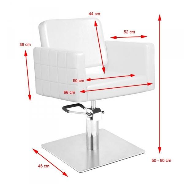 Gabbiano Fotel Fryzjerski Ankara Biały #2
