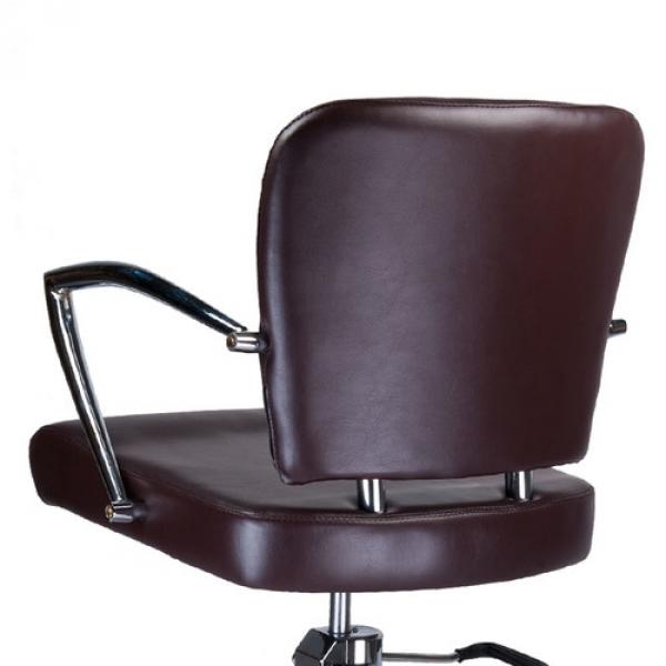 Fotel Fryzjerski Livio Brązowy BH-6369 #4