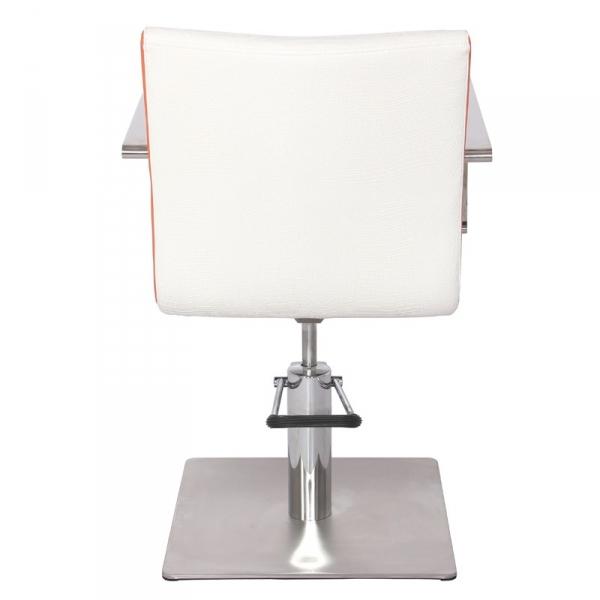 Gabbiano Fotel Fryzjerski Roma Biało-Pomarańczowy #2
