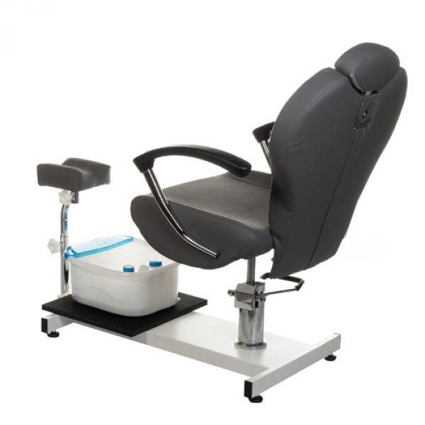 Fotel do pedicure z masażerem stóp BR-2301 szary #4
