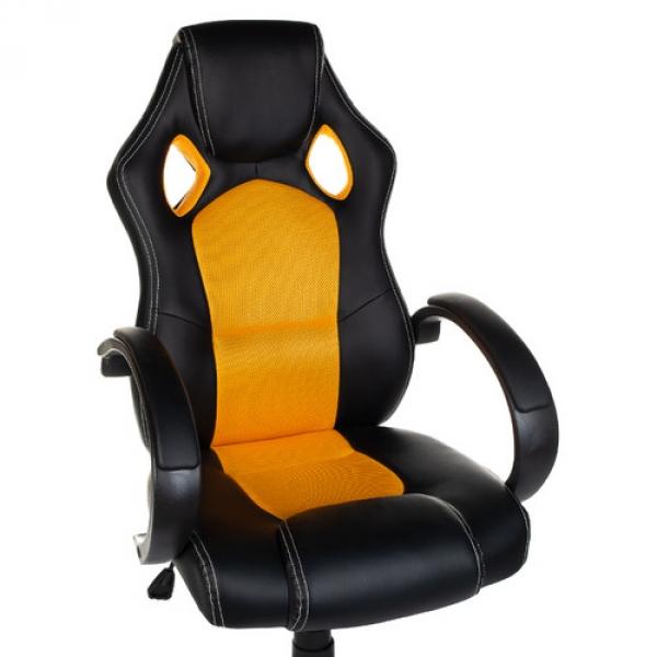 Fotel gamingowy Racer CorpoComfort BX-2052 Pomarań #1