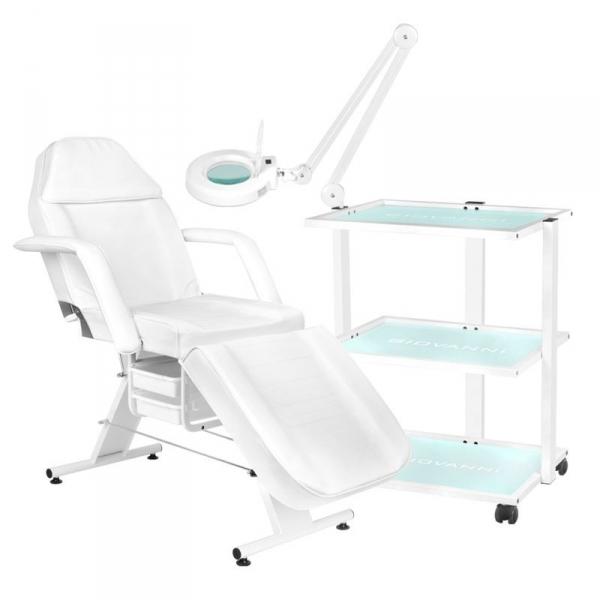 Fotel Kosmetyczny 202 Basic + Stolik Kosmetyczny 1040 + Lampa Lupa Led S5 #1