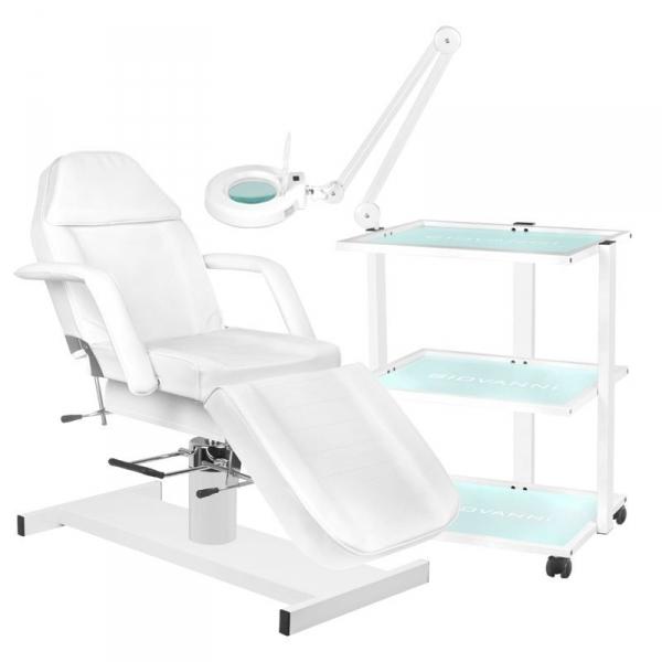 Fotel Kosmetyczny Hydrauliczny A210 + Stolik Kosmetyczny 1040 + Lampa Lupa Led S5 #1