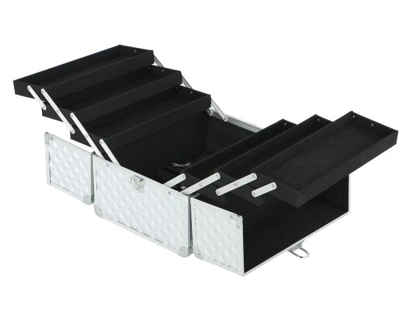 Kufer Kosmetyczny PB1201 Silver Diamond 3D #2