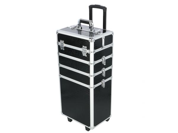 Kufer Kosmetyczny Na Rolkach TC004 Black Croco #1