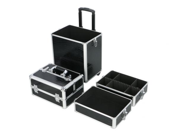Kufer Kosmetyczny Na Rolkach TC004 Black Croco #2
