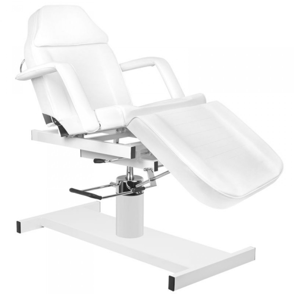 Fotel kosmetyczny hyd. A 210d z kołyską biały #1