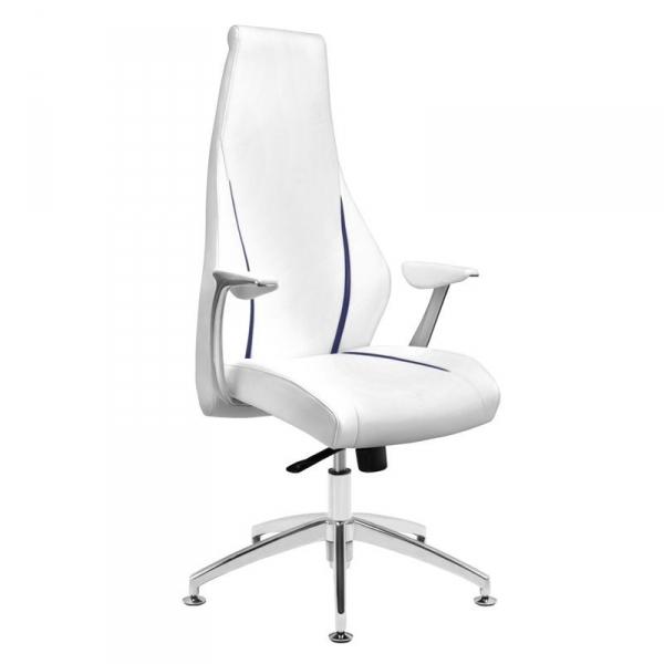 Fotel kosmetyczny rico 106 do pedicure i makijażu biały #1