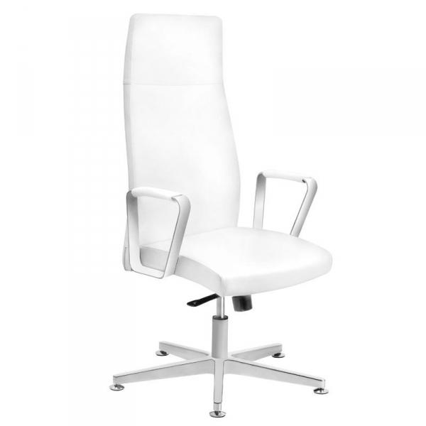Fotel kosmetyczny rico 156 do pedicure i makijażu biały #1