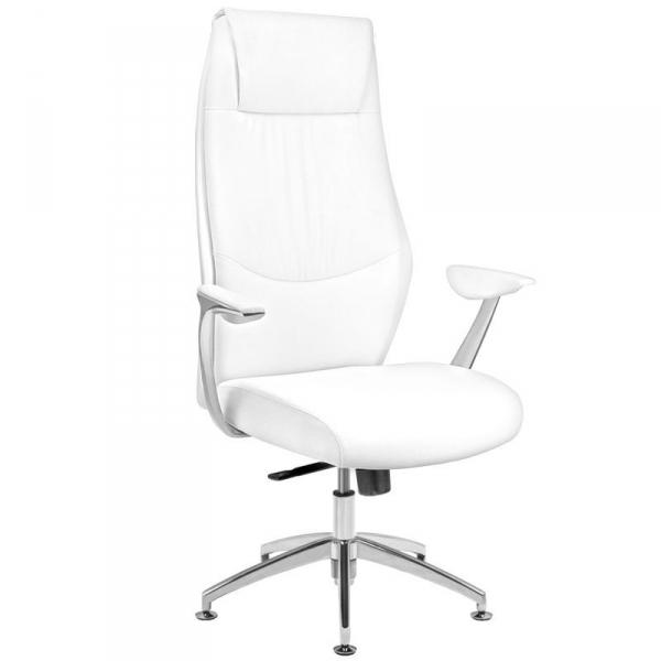 Fotel kosmetyczny rico 184 do pedicure i makijażu biały #1