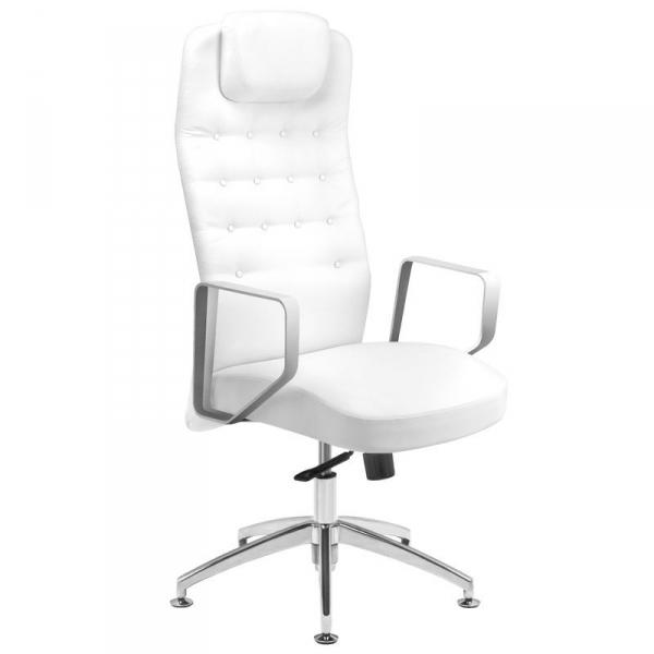 Fotel kosmetyczny rico 199 do pedicure i makijażu biały #1