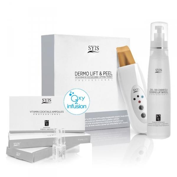 Syis urządz. Dermo lift&peel skin scrubber złota szpatuła + kosmetyki syis #1