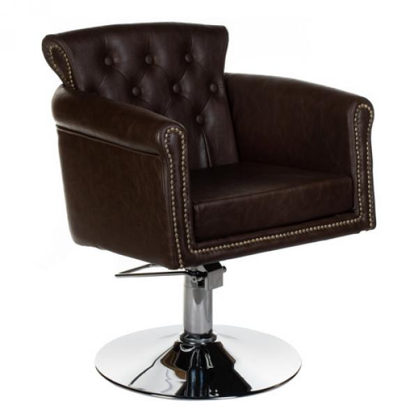 Fotel fryzjerski ALBERTO BH-8038 brązowy #1