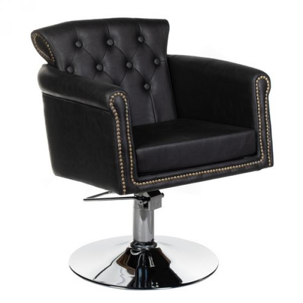 Fotel fryzjerski ALBERTO BH-8038 czarny #1