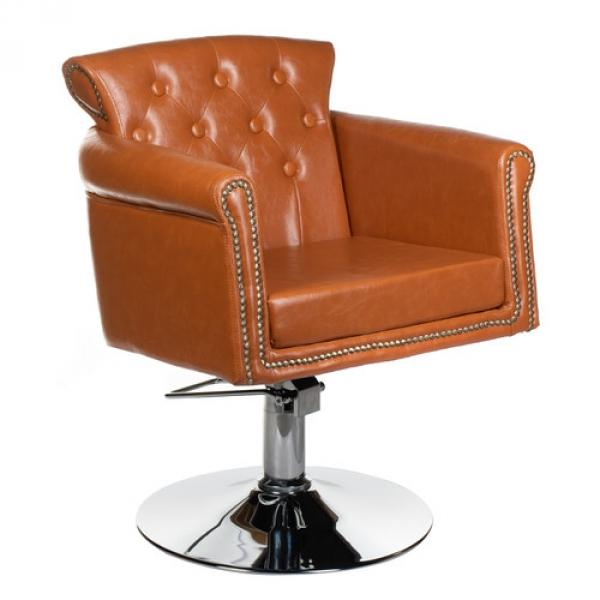 Fotel fryzjerski ALBERTO BH-8038 jasno brązowy #1