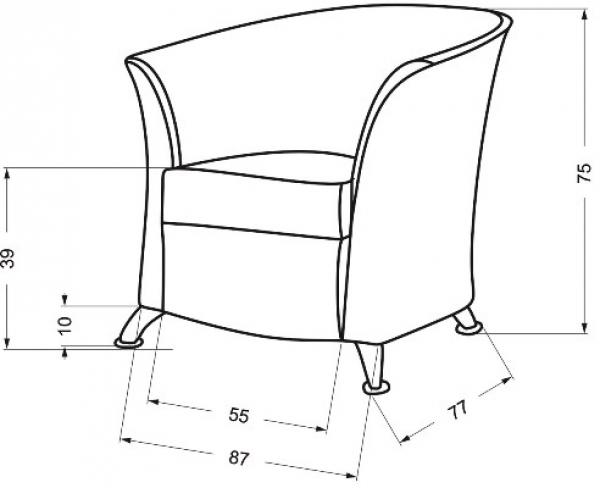 Fotel Dora #3