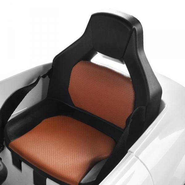 Fotel Fryzjerski Dziecięcy Samochodzik Audi B083 Biały #2