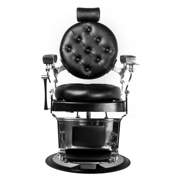 Gabbiano Fotel Barberski Imperator Czarny #1