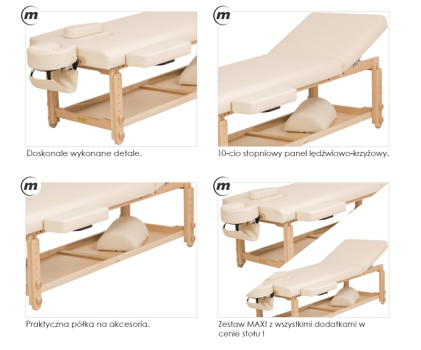 Stół Do Masażu Stacjonarny Spa Plus Max #4
