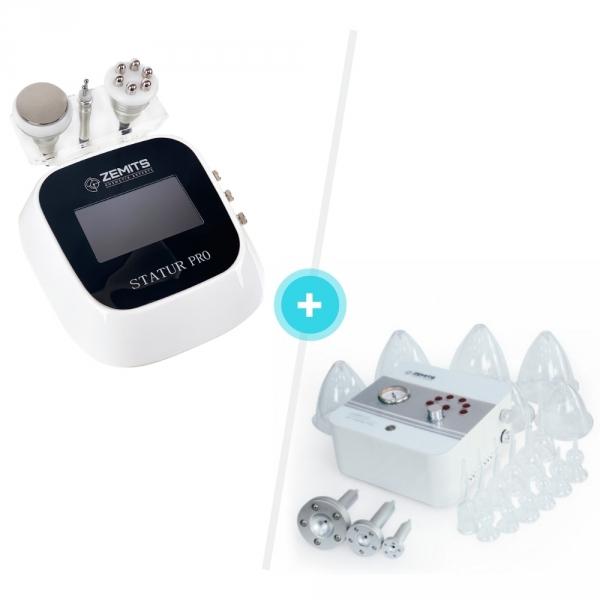 Zestaw Urządzenie do kawitacji i liftingu RF Zemits Statur Pro + Urządzenie do masażu próżniowego Zemits Leger 2.0 #1