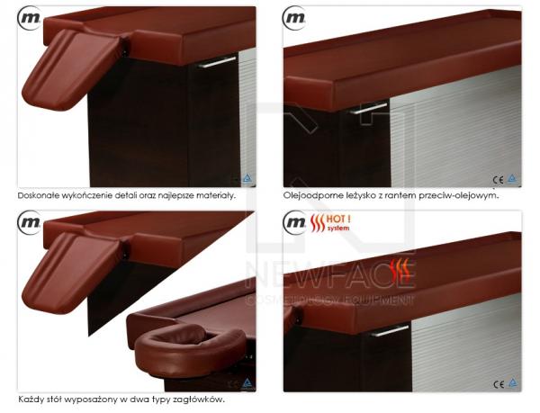Stół Do Masażu Stacjonarny Lux Veda Hot #4