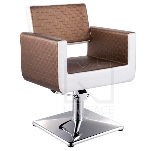 Gabbiano Fotel Fryzjerski Turyn Brązowo - Beżowy #1