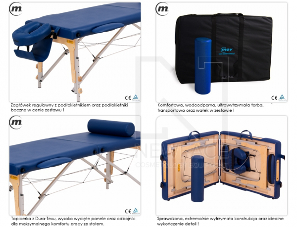 Stół do masażu przenośny Premium Alu #3