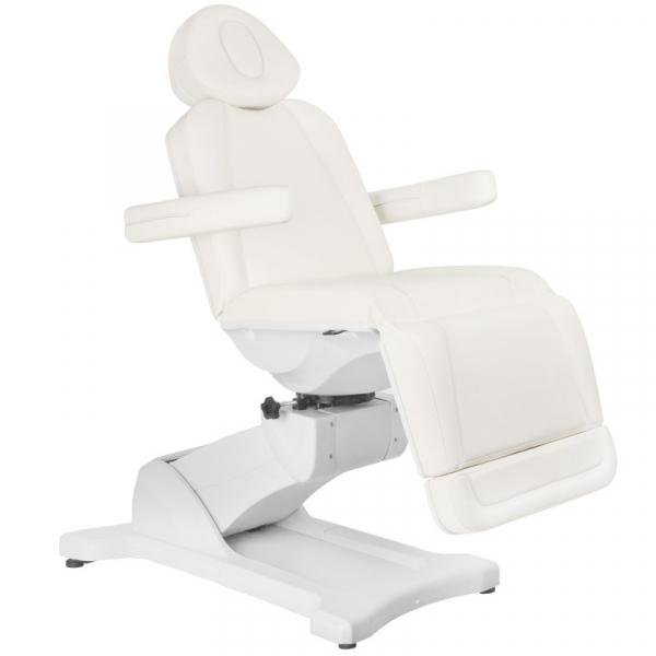 Fotel Kosmetyczny Elektryczny Azzurro 869A Obrotowy 4 Siln. Biały #1