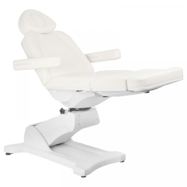 Fotel Kosmetyczny Elektryczny Azzurro 869A Obrotowy 4 Siln. Biały #2