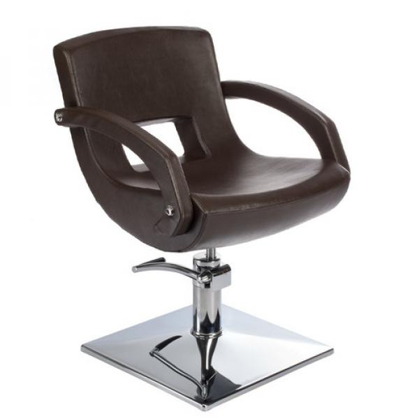 Fotel fryzjerski Nino BH-8805 brązowy #1