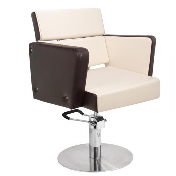 Gabbiano Fotel Fryzjerski Dublin Brązowo-Beżowy #1