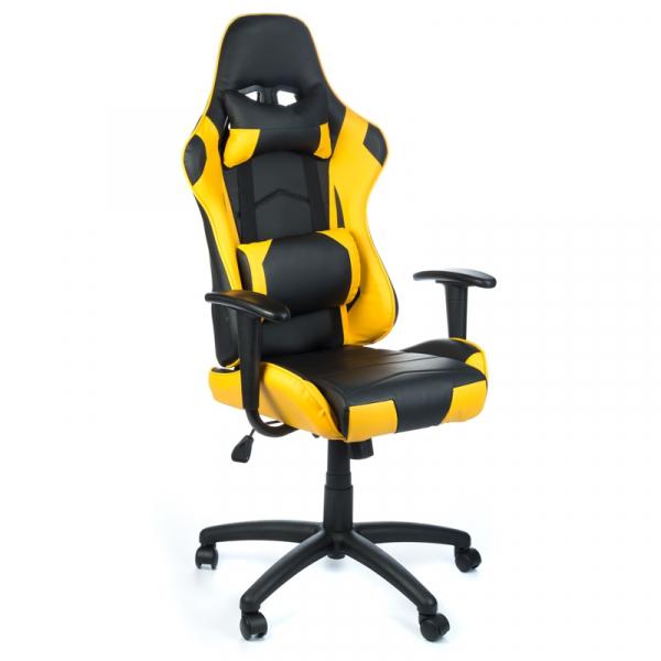 Fotel Gamingowy RACER CorpoComfort BX-3700 Żółty #1