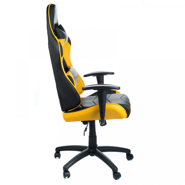 Fotel Gamingowy RACER CorpoComfort BX-3700 Żółty #3