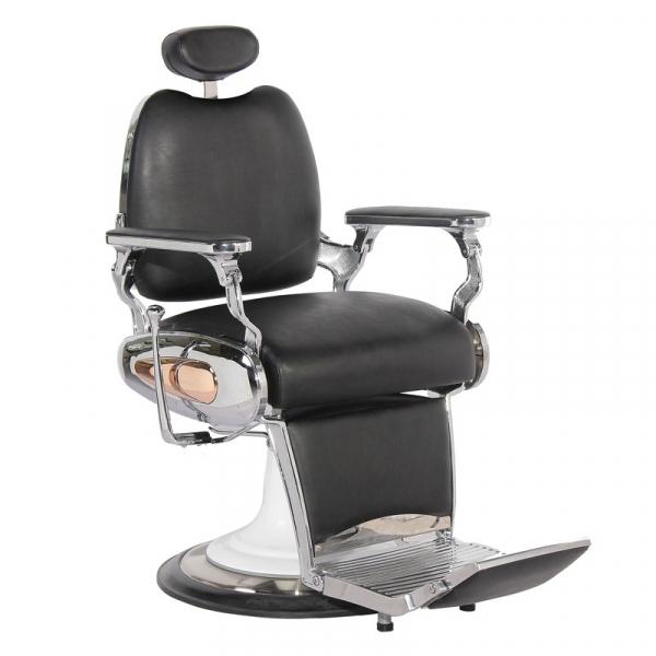 Gabbiano Fotel Barberski Moto Style Czarny #1