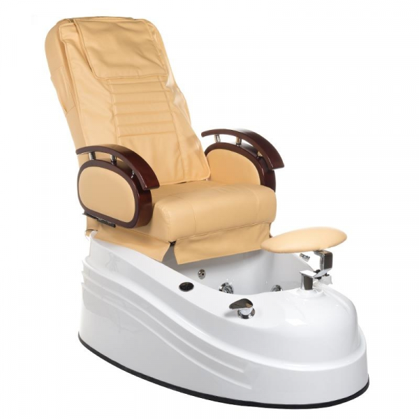 Fotel do pedicure z masażem BR-2307 Beżowy #1