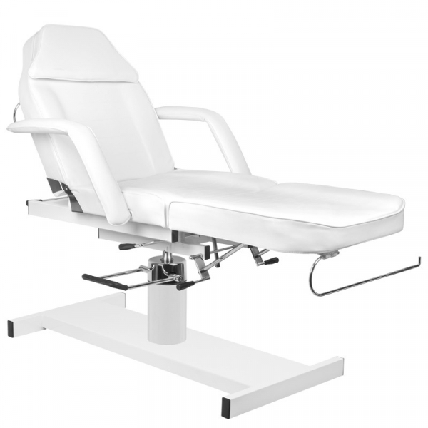 Fotel Kosmetyczny Hydrauliczny A 210D Z Kołyską Biały #2