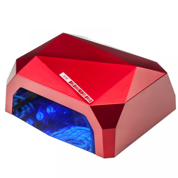 Lampa Diamond 2w1 UV LED+CCFL 36W Timer + Sensor Red #1